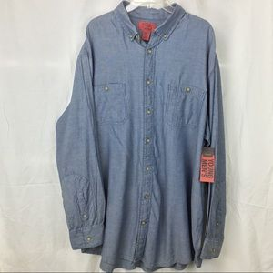 The Foundry Supply Co. Shirts - Foundry diamond long sleeve button down  Big Tall